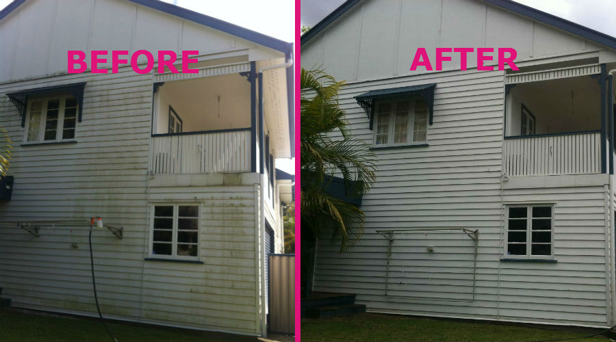 High Pressure Cleaning | Brisbane | The House Washer Before Cleaning and After Cleaning